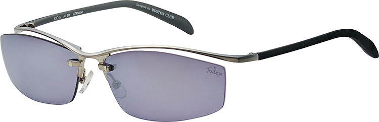 LENS:AIRY PURPLE (SILVER MIRROR) FRAME:Pd SHIRRING SILVER × BLK × GRY